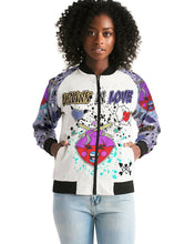 Load image into Gallery viewer, Chika LOVE Me RIGHT Women's Bomber Jacket