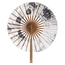Load image into Gallery viewer, Japanese Sakura Flower Pocket Folding Hand Fan Round Circle Party Decor Gift