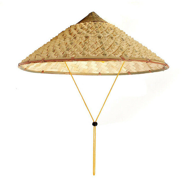 Vietnamese Japanese Coolie Straw Bamboo Cone Sun Hat