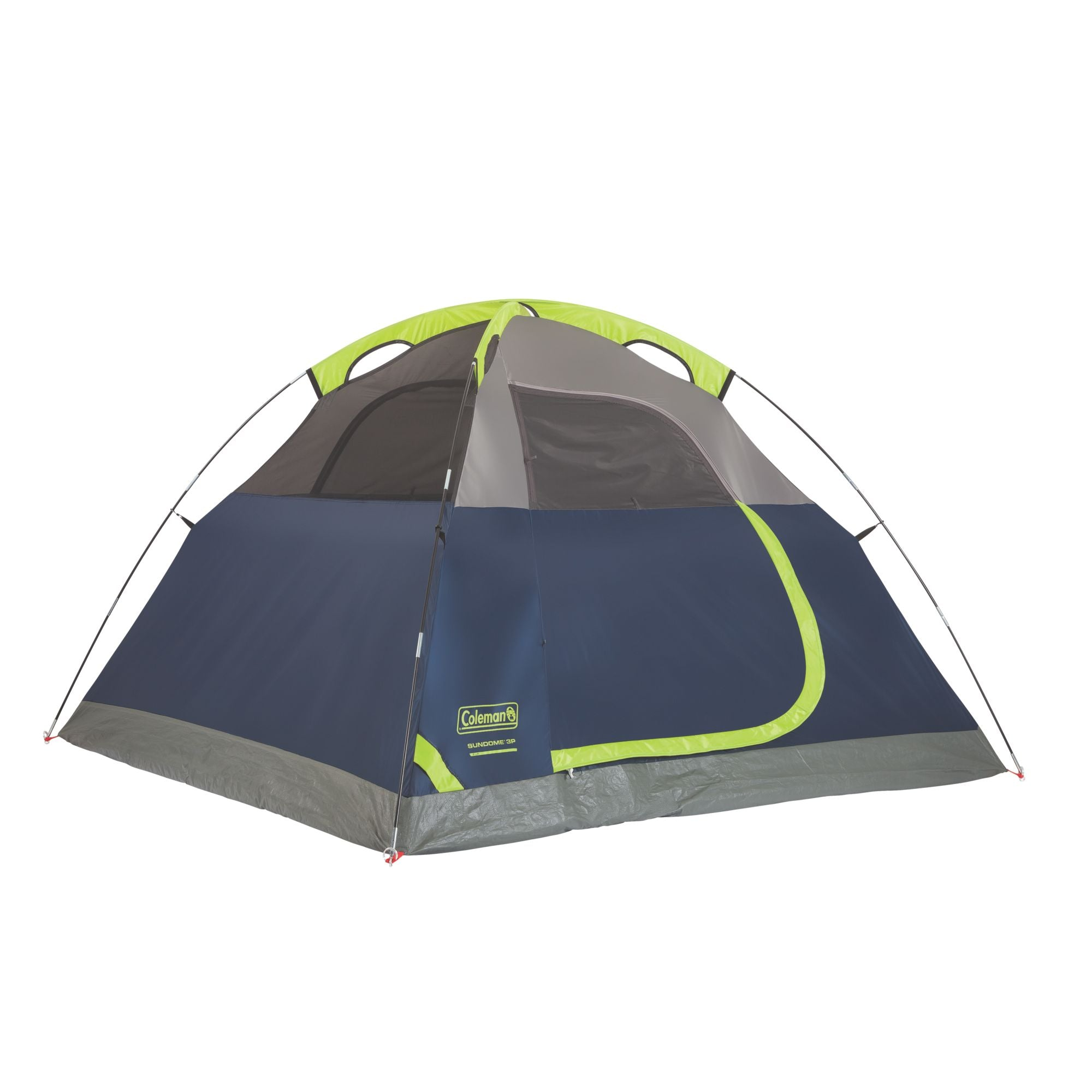 Coleman Sundome 3 Person Dome Tent 7x7 ft Blue/Green  sc 1 st  Off Trail Gear : coleman 1 minute tent - afamca.org