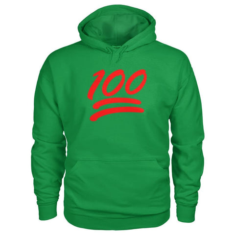 Image of 100 Hoodie - Irish Green / S - Hoodies