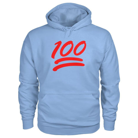 Image of 100 Hoodie - Light Blue / S - Hoodies