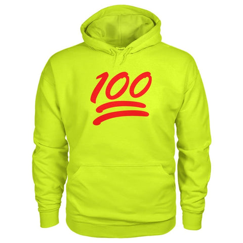 Image of 100 Hoodie - Safety Green / S - Hoodies