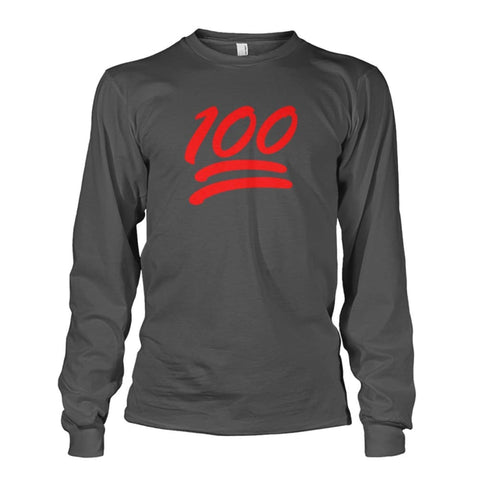 100 Long Sleeve - Charcoal / S - Long Sleeves
