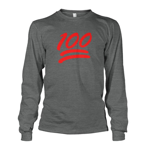100 Long Sleeve - Dark Heather / S - Long Sleeves