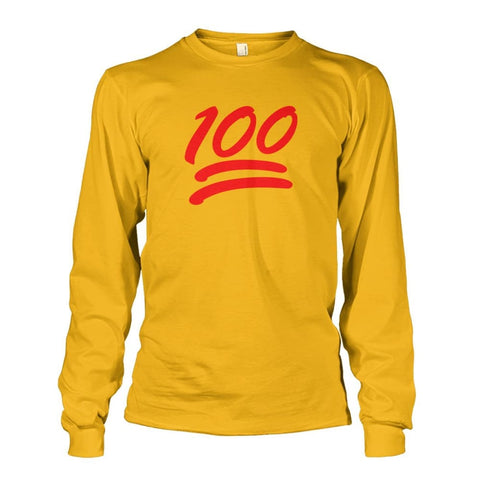 100 Long Sleeve - Gold / S - Long Sleeves