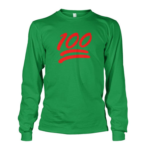 100 Long Sleeve - Irish Green / S - Long Sleeves