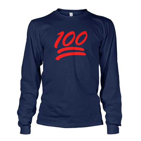 100 Long Sleeve - Navy / S - Long Sleeves