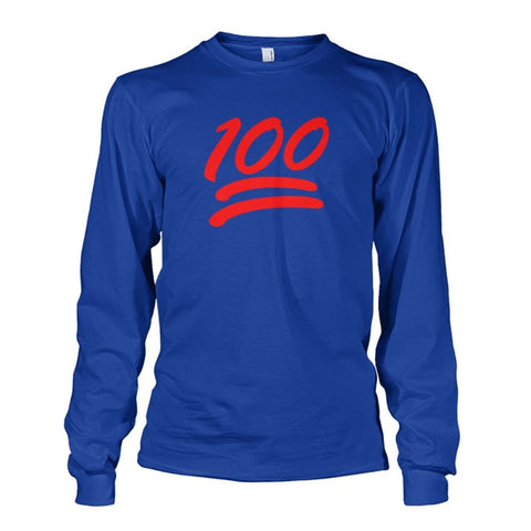 100 Long Sleeve - Royal / S - Long Sleeves