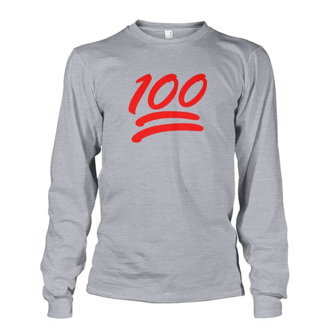 100 Long Sleeve - Sports Grey / S - Long Sleeves