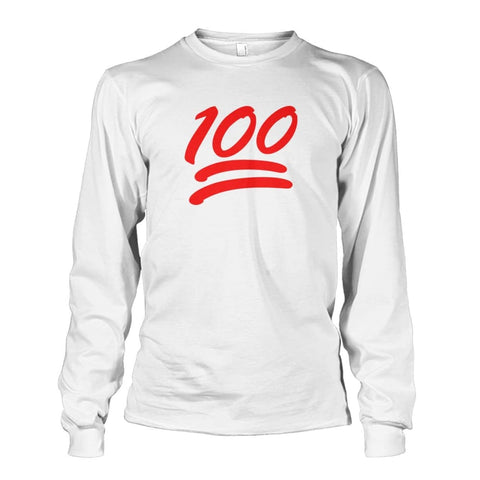 100 Long Sleeve - White / S - Long Sleeves