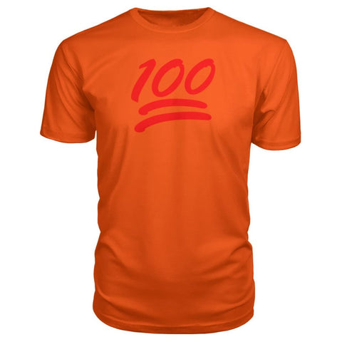 100 Premium Shirt - Orange / S - Short Sleeves