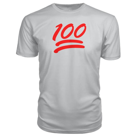 100 Premium Shirt - Silver / S - Short Sleeves