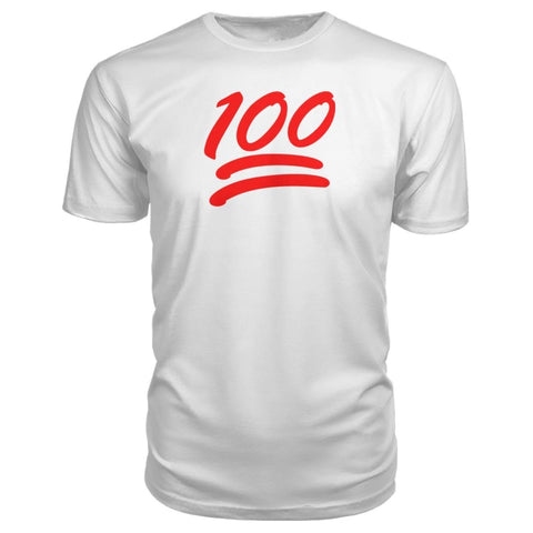 100 Premium Shirt - White / S - Short Sleeves