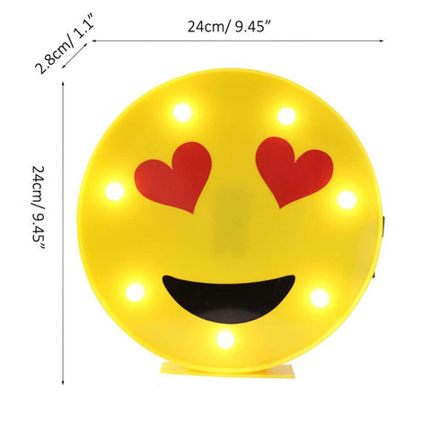 LED Marquee Emoji Table Lamp Night Light