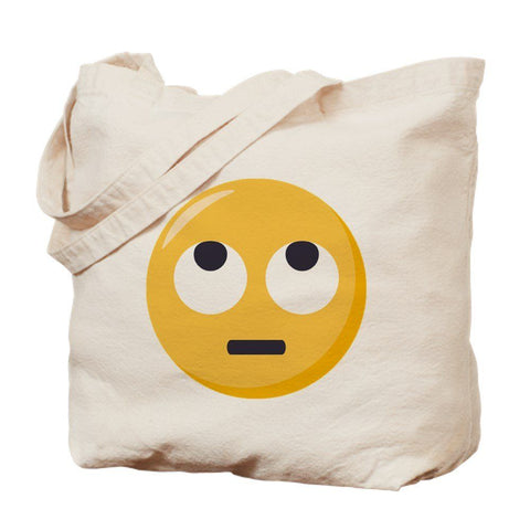 Image of Face With Rolling Eyes Emoji Natural Canvas Tote Bag