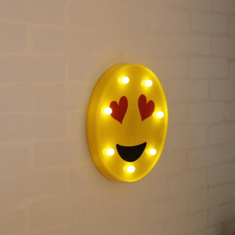 Image of LED Marquee Emoji Table Lamp Night Light