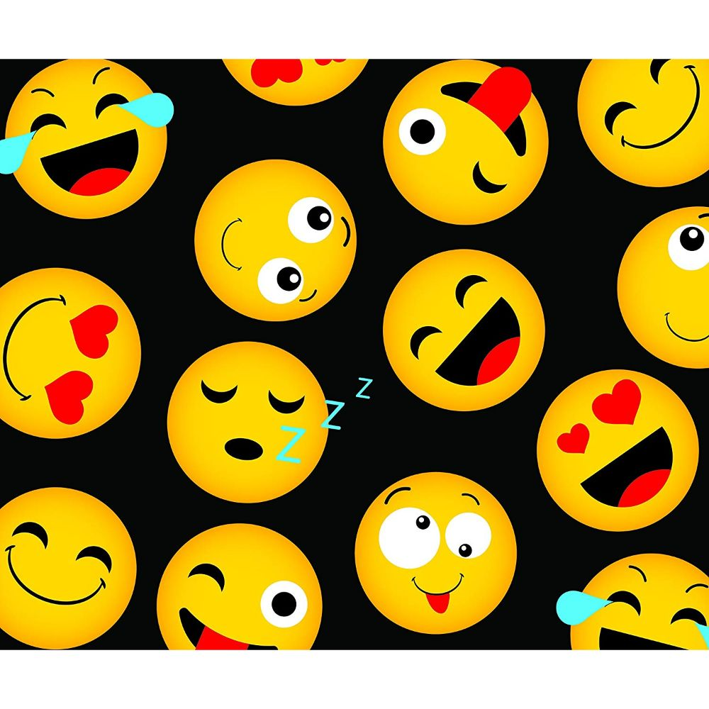 Fleece Emoji 50 x 60 Inch Throw Blanket