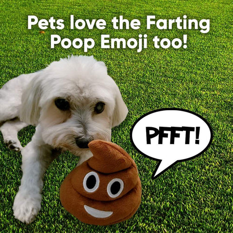 Image of Poop Emoji Farting Plush Toy