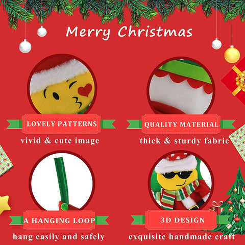 Image of Emoji 3D Christmas Stockings
