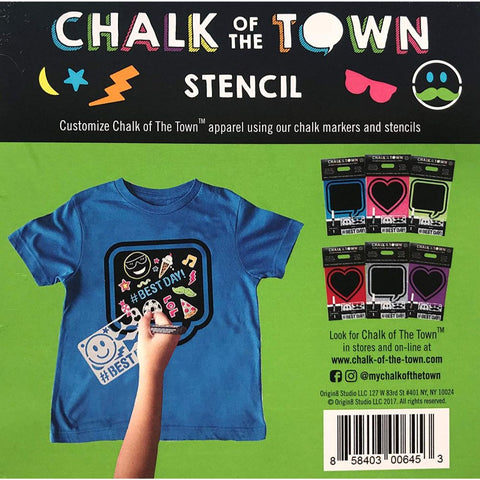 Image of Chalk of the Town Best Day Emoji Plastic Stencil for Kids