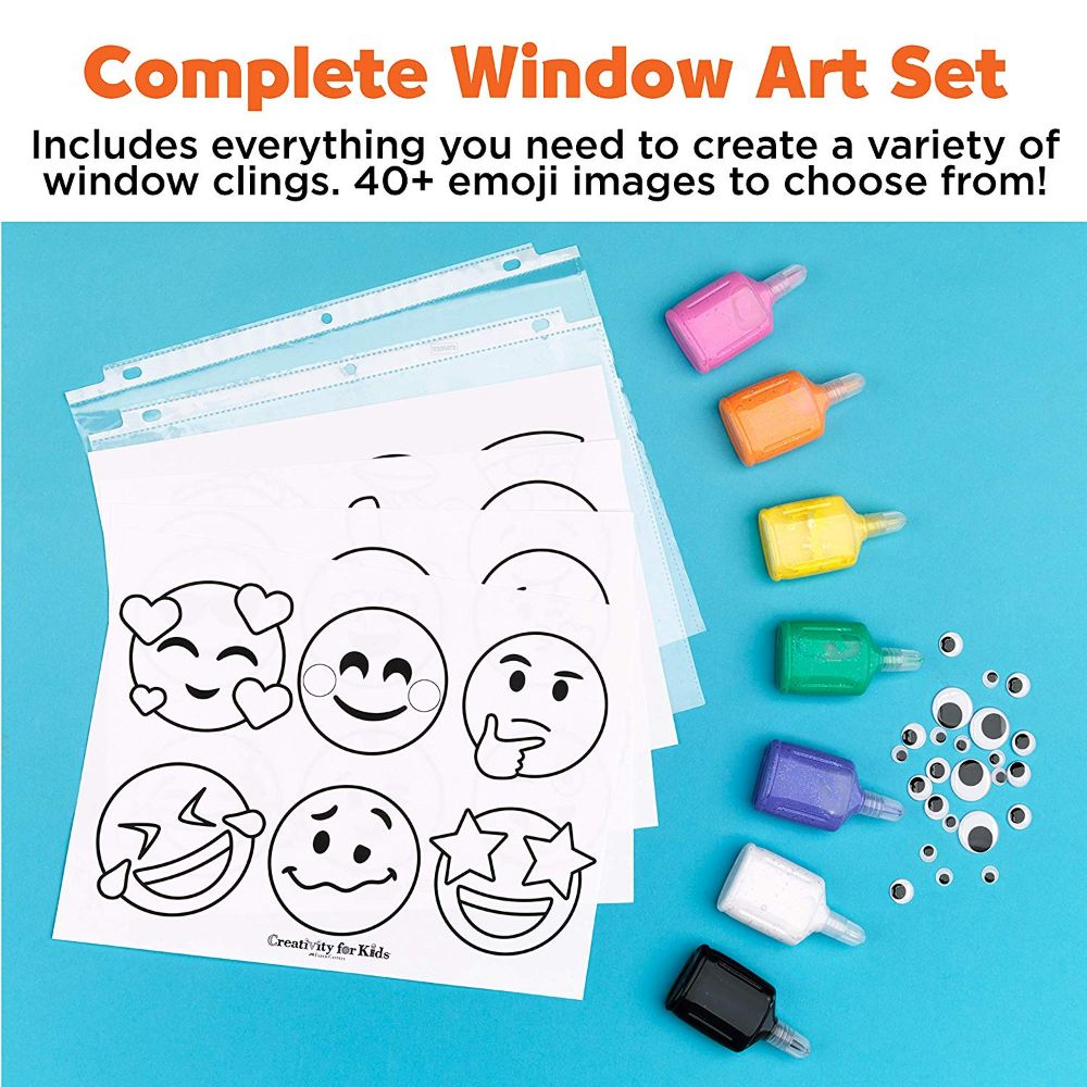 Creativity for Kids Emoji Window Art