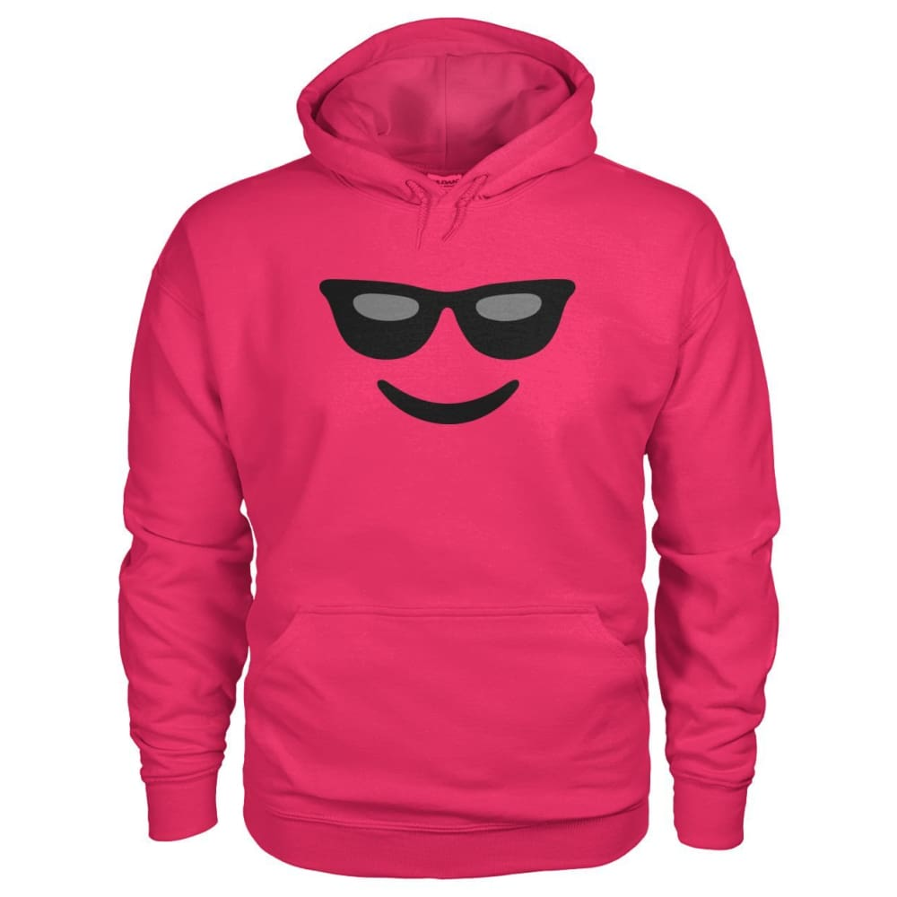 Cool Face Hoodie - Heliconia / S - Hoodies