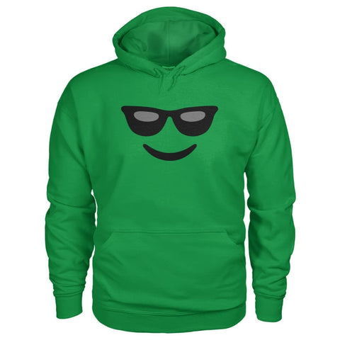 Cool Face Hoodie - Irish Green / S - Hoodies