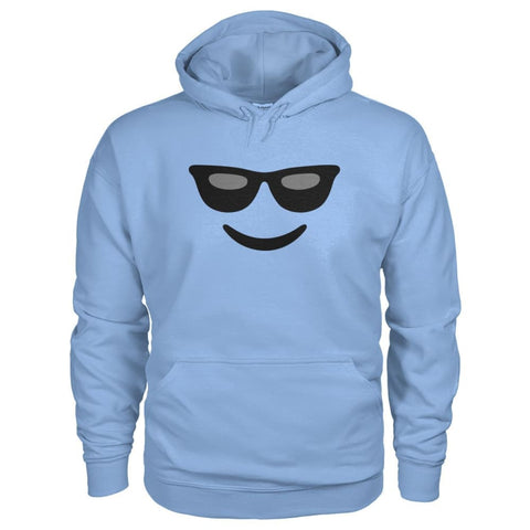 Cool Face Hoodie - Light Blue / S - Hoodies