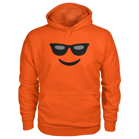 Cool Face Hoodie - Orange / S - Hoodies