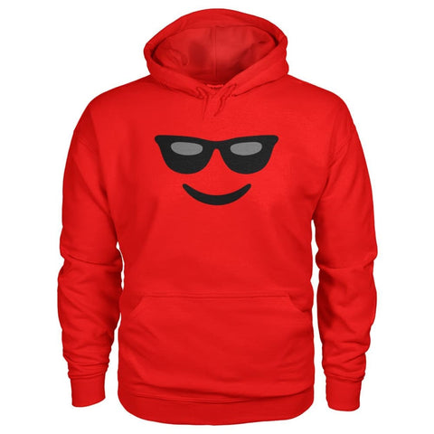 Image of Cool Face Hoodie - Red / S - Hoodies