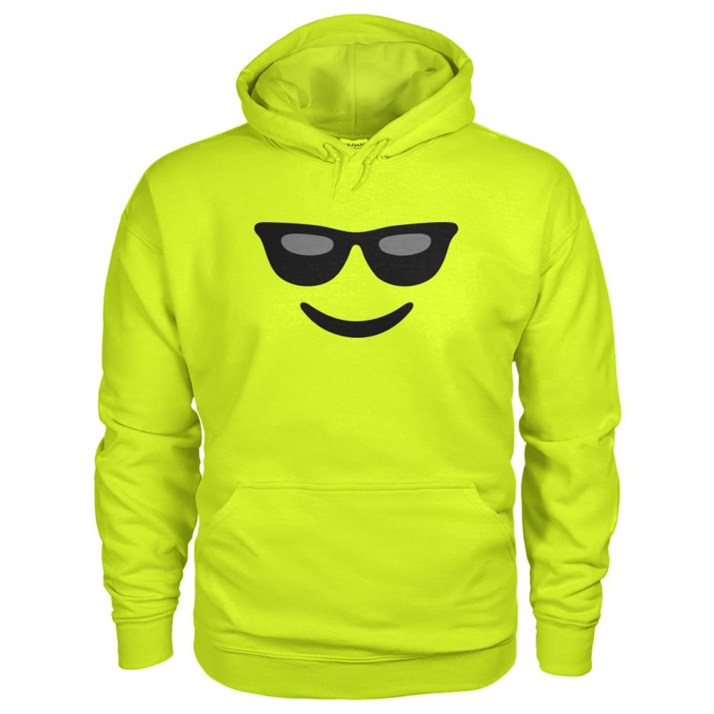 Cool Face Hoodie - Safety Green / S - Hoodies