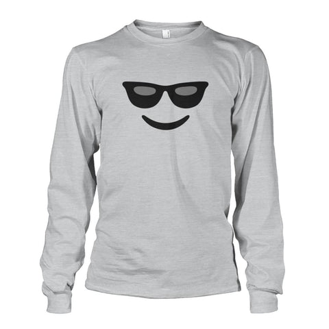Image of Cool Face Long Sleeve - Ash Grey / S - Long Sleeves
