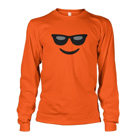 Image of Cool Face Long Sleeve - Orange / S - Long Sleeves