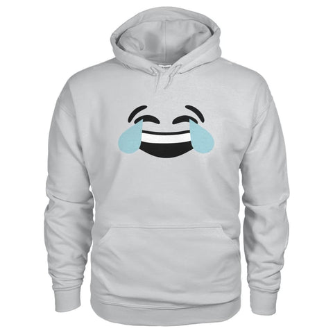 Crying Laughing Face Hoodie - Ash Grey / S - Hoodies