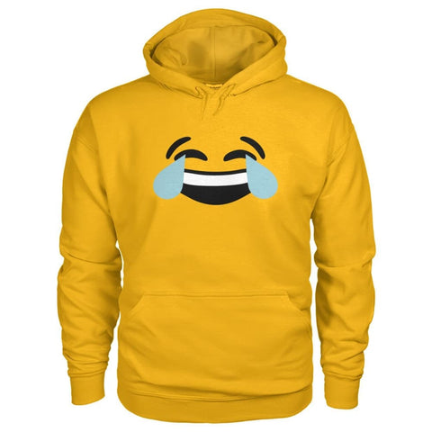 Image of Crying Laughing Face Hoodie - Gold / S - Hoodies