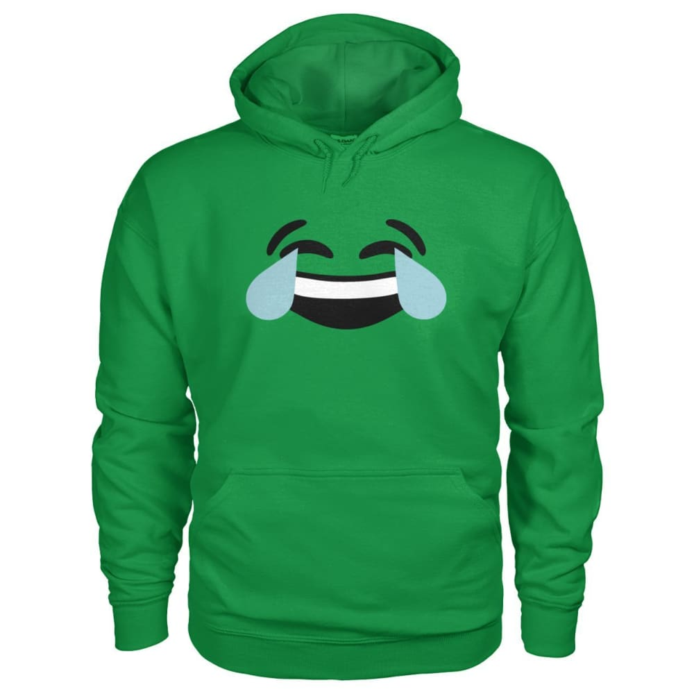 Crying Laughing Face Hoodie - Irish Green / S - Hoodies