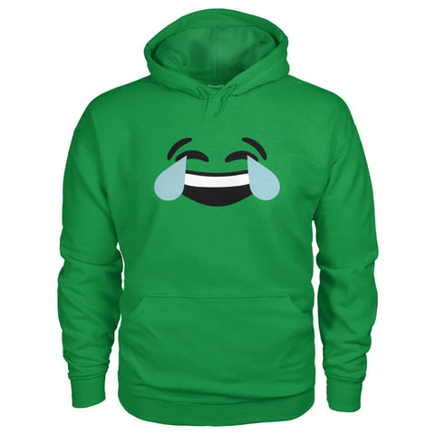 Image of Crying Laughing Face Hoodie - Irish Green / S - Hoodies