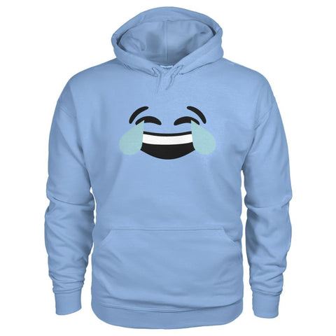 Crying Laughing Face Hoodie - Light Blue / S - Hoodies