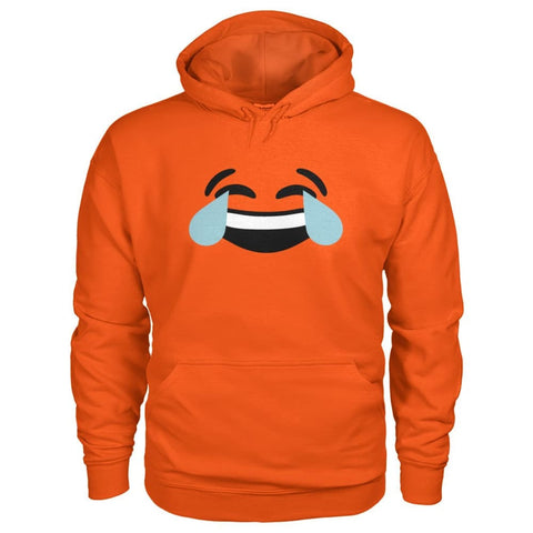 Image of Crying Laughing Face Hoodie - Orange / S - Hoodies