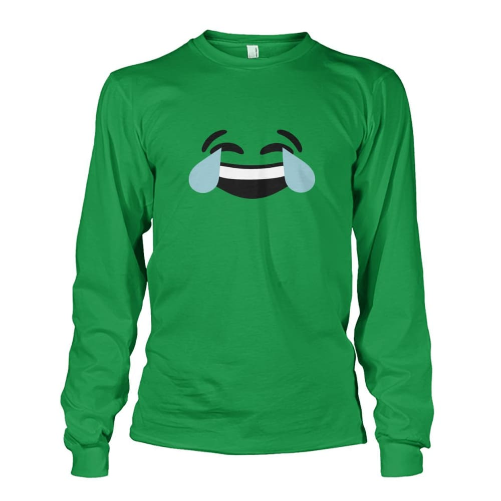 Crying Laughing Face Long Sleeve - Irish Green / S - Long Sleeves