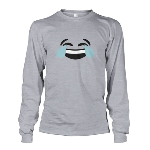 Image of Crying Laughing Face Long Sleeve - Sports Grey / S - Long Sleeves