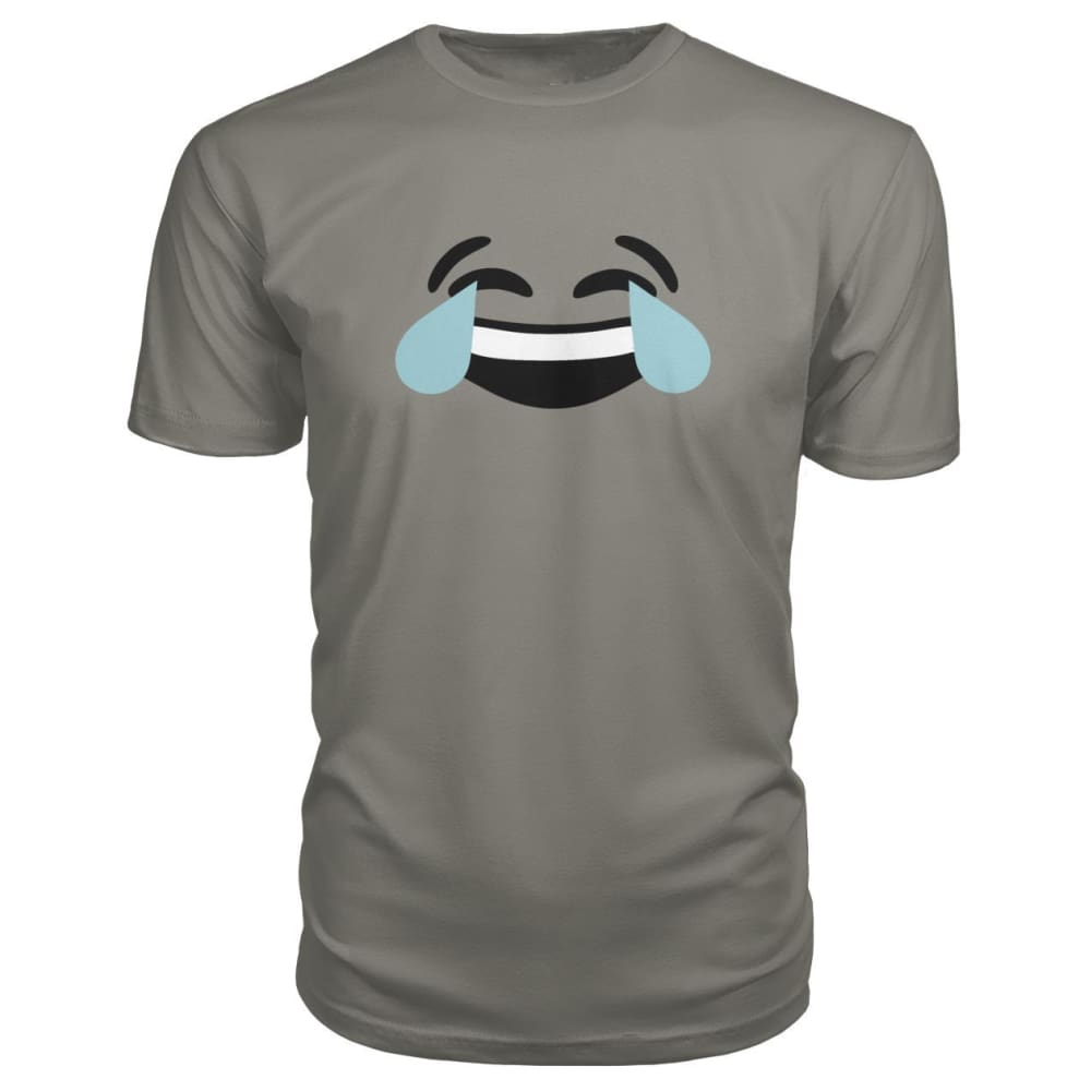 Crying Laughing Face Premium Tee - Charcoal / S - Short Sleeves