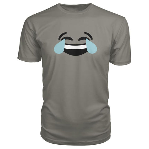Image of Crying Laughing Face Premium Tee - Charcoal / S - Short Sleeves