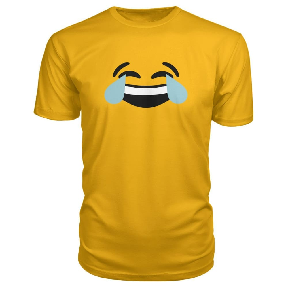 Crying Laughing Face Premium Tee - Gold / S - Short Sleeves