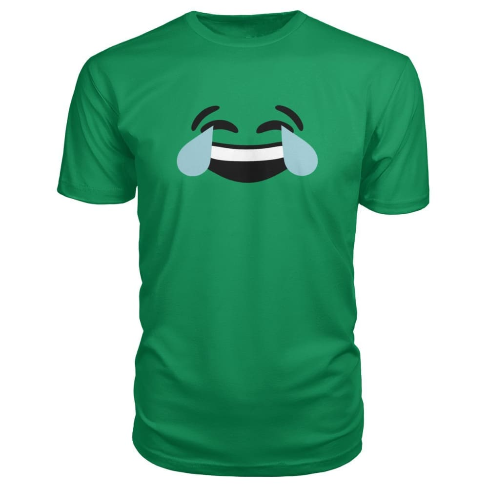 Crying Laughing Face Premium Tee - Green Apple / S - Short Sleeves