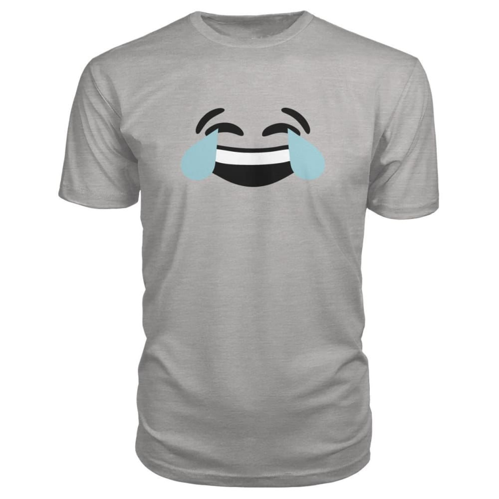 Crying Laughing Face Premium Tee - Heather Grey / S - Short Sleeves