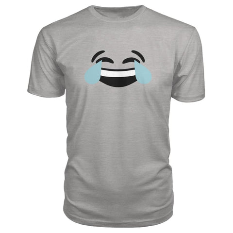 Image of Crying Laughing Face Premium Tee - Heather Grey / S - Short Sleeves