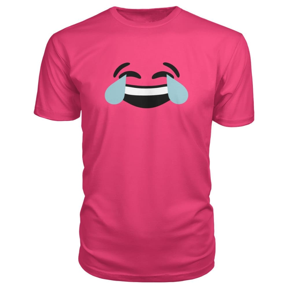 Crying Laughing Face Premium Tee - Hot Pink / S - Short Sleeves
