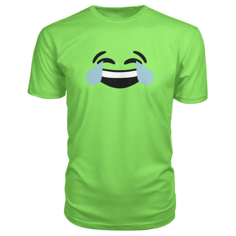 Image of Crying Laughing Face Premium Tee - Key Lime / S - Short Sleeves